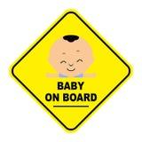σημάδι χαρτονιών μωρών Στοκ Φωτογραφία