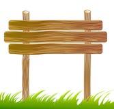 σημάδι χαρτονιών ξύλινο Στοκ φωτογραφία με δικαίωμα ελεύθερης χρήσης