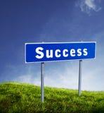 σημάδι χαρτονιών succes Στοκ φωτογραφία με δικαίωμα ελεύθερης χρήσης