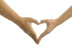 Σημάδι χεριών καρδιών Στοκ Φωτογραφία
