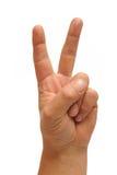 Σημάδι χεριών νίκης Στοκ εικόνες με δικαίωμα ελεύθερης χρήσης