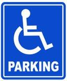 σημάδι χώρων στάθμευσης αναπηρίας Στοκ εικόνα με δικαίωμα ελεύθερης χρήσης