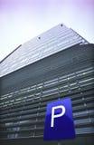 σημάδι χώρων στάθμευσης γρ& στοκ εικόνα
