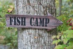 σημάδι ψαριών στρατόπεδων Στοκ Φωτογραφίες