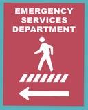 σημάδι 2 υπηρεσιών επειγόντων Στοκ εικόνα με δικαίωμα ελεύθερης χρήσης
