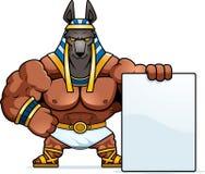 Σημάδι Anubis κινούμενων σχεδίων Απεικόνιση αποθεμάτων