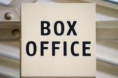 σημάδι box οφφηθε Στοκ Φωτογραφίες