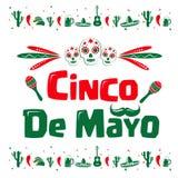 Σημάδι Cinco de Mayo Στοκ εικόνα με δικαίωμα ελεύθερης χρήσης