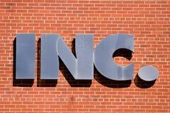 σημάδι INC Στοκ φωτογραφία με δικαίωμα ελεύθερης χρήσης