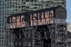 Σημάδι Long Island σε ένα κτήριο Στοκ Φωτογραφία