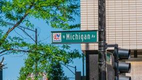 Σημάδι Michigan Avenue οδών στο Σικάγο - το ΣΙΚΑΓΟ, ΗΠΑ - 12 ΙΟΥΝΊΟΥ 2019 στοκ φωτογραφίες