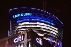 Σημάδι Samsung Πινακίδα Samsung επιχείρησης στοκ εικόνες