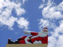 σημάδι santa Χριστουγέννων ηλι Στοκ Εικόνες