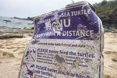 Σημάδι Shorline ομοσπονδιακό και νόμοι συντήρησης χελωνών κρατικής θάλασσας και στοκ φωτογραφία με δικαίωμα ελεύθερης χρήσης