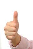 σημάδι tumb Στοκ εικόνα με δικαίωμα ελεύθερης χρήσης