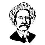 σημάδι twain Διανυσματικό πορτρέτο Mark Twain Απεικόνιση αποθεμάτων