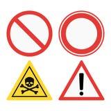 Σημάδια απαγόρευσης καθορισμένα τις πληροφορίες ασφάλειας τη διανυσματική απεικόνιση ελεύθερη απεικόνιση δικαιώματος