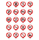 Σημάδια απαγόρευσης διανυσματική απεικόνιση