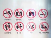 Σημάδια απαγόρευσης Στοκ εικόνες με δικαίωμα ελεύθερης χρήσης