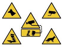 σημάδια ασφάλειας Στοκ εικόνα με δικαίωμα ελεύθερης χρήσης