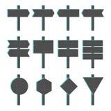 Σημάδια βελών Grunge Blocky Στοκ Φωτογραφία