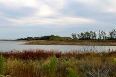 Σημάδια λιμνών της ξηρασίας Στοκ Εικόνες