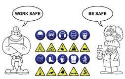 Σημάδια κατασκευής και κινδύνου ελεύθερη απεικόνιση δικαιώματος