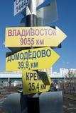 Σημάδια κατεύθυνσης στον πόλο Στοκ φωτογραφίες με δικαίωμα ελεύθερης χρήσης