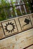 Σημάδια κηπουρικής Στοκ Φωτογραφία