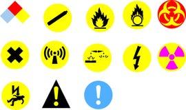 σημάδια κινδύνου Στοκ Εικόνες
