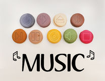 Σημάδια μουσικής Στοκ εικόνα με δικαίωμα ελεύθερης χρήσης