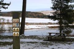 Σημάδια νερού Beware Στοκ φωτογραφία με δικαίωμα ελεύθερης χρήσης