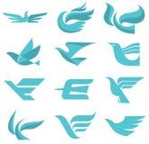 Σημάδια λογότυπων πουλιών Στοκ Εικόνες