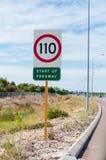 Σημάδια ορίου ταχύτητας Στοκ Εικόνες