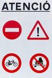 Σημάδια οδικής προσοχής Στοκ Εικόνες