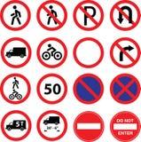 Σημάδια οδικού περιορισμού Στοκ Φωτογραφία