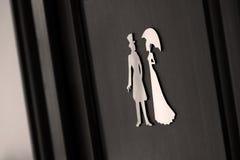 Σημάδια πορτών τουαλετών Στοκ Εικόνες
