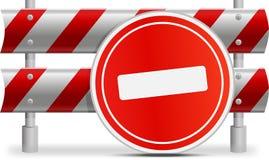 Σημάδια που περιορίζουν τη μετακίνηση Στοκ φωτογραφία με δικαίωμα ελεύθερης χρήσης