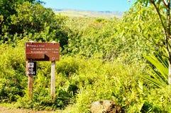Σημάδια προσοχής κρατικών πάρκων haleakala Maui Στοκ Φωτογραφία
