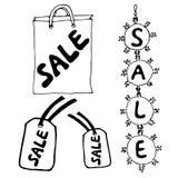 Σημάδια πώλησης στο άσπρο υπόβαθρο Στοκ Εικόνες