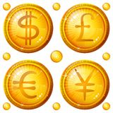 σημάδια συνόλου νομίσματος κουμπιών Στοκ εικόνες με δικαίωμα ελεύθερης χρήσης
