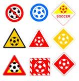 Σημάδια σφαιρών ποδοσφαίρου Στοκ φωτογραφίες με δικαίωμα ελεύθερης χρήσης