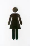 Σημάδια τουαλετών γυναικών αργιλίου Στοκ φωτογραφία με δικαίωμα ελεύθερης χρήσης