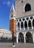 Σημάδια του ST και Doge παλάτι, Βενετία, Ιταλία Στοκ φωτογραφίες με δικαίωμα ελεύθερης χρήσης