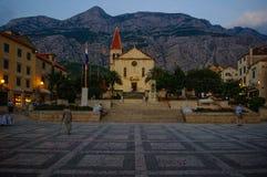 Σημάδια του ST, Makarska, Κροατία Στοκ φωτογραφία με δικαίωμα ελεύθερης χρήσης