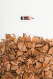 Σημάδια φθαρμένου του πίεση μολυβιού Στοκ εικόνες με δικαίωμα ελεύθερης χρήσης