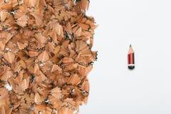 Σημάδια φθαρμένου του πίεση μολυβιού Στοκ Εικόνα