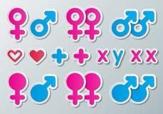 Σημάδια φύλων Στοκ εικόνα με δικαίωμα ελεύθερης χρήσης