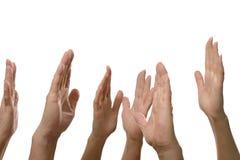 Σημάδια χεριών που απομονώνονται Στοκ φωτογραφία με δικαίωμα ελεύθερης χρήσης