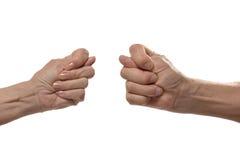 Σημάδια χεριών σύκων Στοκ φωτογραφία με δικαίωμα ελεύθερης χρήσης